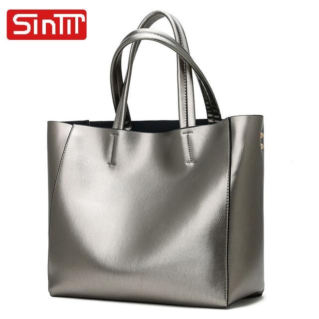 SINTIR Brand Casual Large Capacity Women Handbags Vintage Soft PU Leather Women Shoulder Bags Fashion Big Shopping Travel Bag