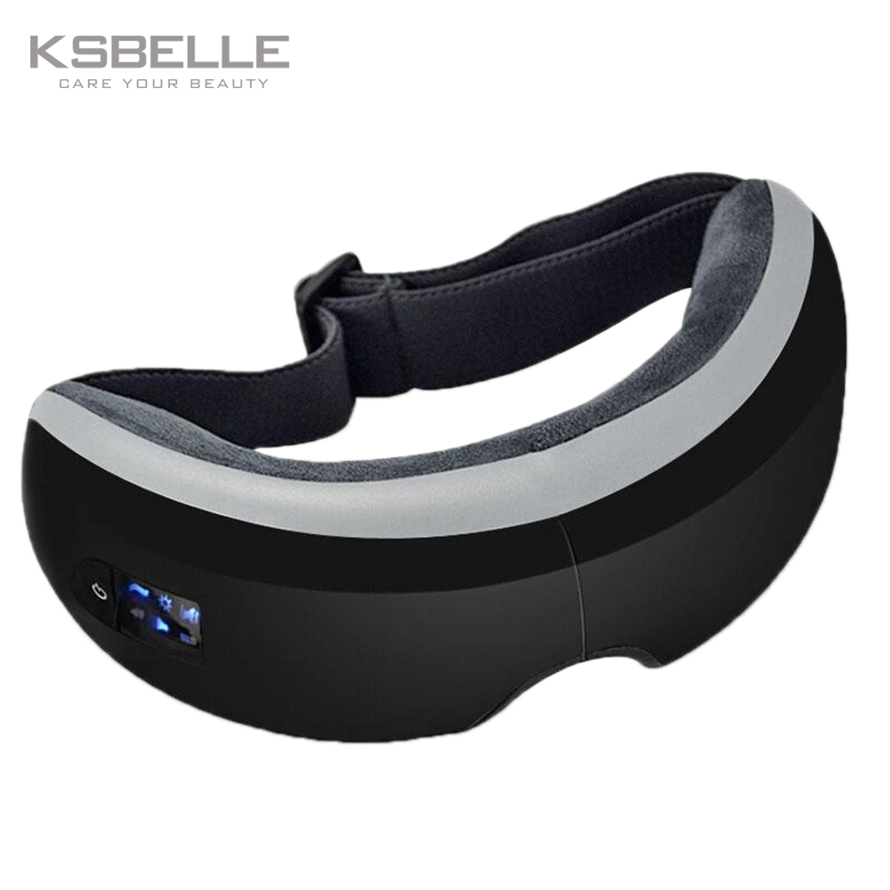 Eye massage SPA Instrument Electric Air pressure Eyes massager Music Charge Wireless Vibration Magnetic heating massage devices free shipping new air pressure eye massager with mp3 6 functions dispel eye bags eye magnetic far infrared heating eye care