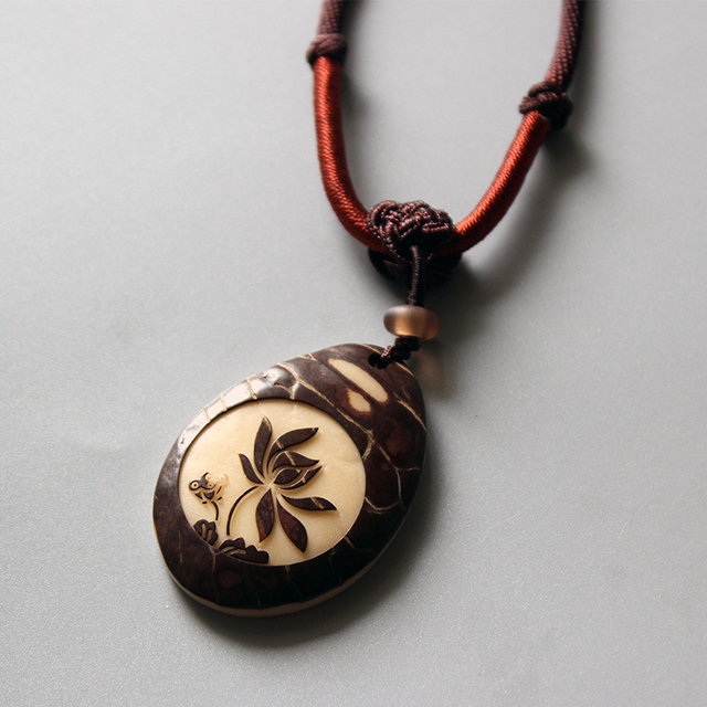 Necklace With Handcarved Tagua Nut