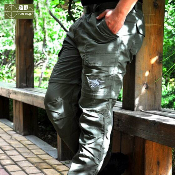 HANWILD Men Summer Outdoor Hiking Quick Dry pant Male Fishing Sports Trekking Trousers Anti-UV Plus Size Camping Hunting P54 summer women spring trecking quick dry hiking shirt woman fishing pant sportwear camping trousers suit plus size shirt pant s21