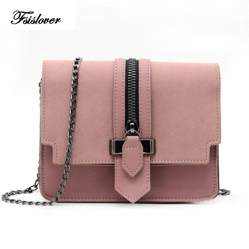 FSISLOVER Fashion Matte PU Leather Women Bags High Quality Handbags Designer Shoulder Bag Small Chain Crossbody Messenger