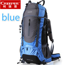 Creeper Outdoor Climbing Backpacks Unisex Waterproof Nylon Travel Sport Bags Mountaineering Bag Hiking knapsack Backpack 65L