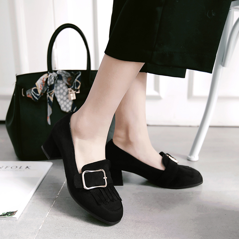 Plus Big and Small 31-48 Size 4 Colour New Spring Autumn Women's Pumps Women Shoes  Square Toe  Square heel 75-3 small beginnings colour and count