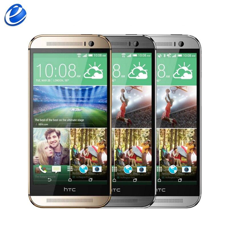 """Цена за Разблокирована Оригинальный HTC One M8 GSM 3 Г 4 Г 3 Камеры Android 5.0 6.0 Quad core 2 ГБ 32 ГБ Мобильного Телефона 5.0 """"4MP восстановленное сотовый телефон"""