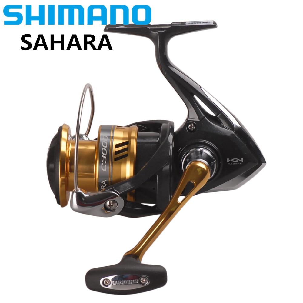 100%Original SHIMANO SAHARA C2000HGS 2500HGS C3000 Spinning Fishing Reel 5BB Hagane Gear Saltwater Fishing Reel Carretilha Pesca shimano sahara c3000 fi