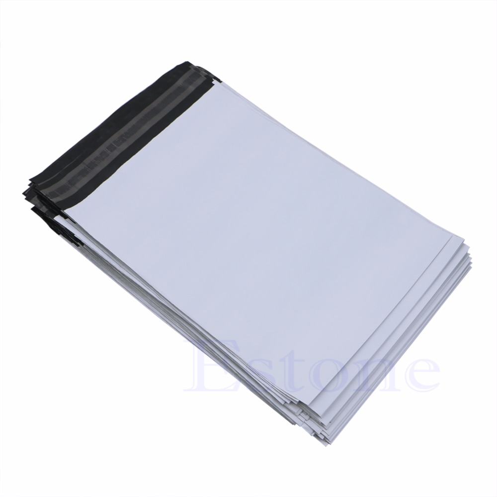 100Pcs 20*34cm Poly Mailer Plastic Shipping Mailing Bags Envelope Polybag New(China)