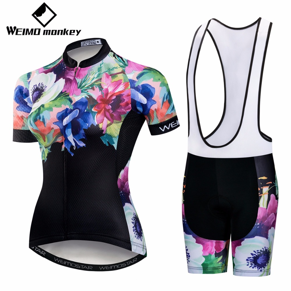 Cycling Jersey Set 2018 Bike Jersey Bib Shorts summer road Bike suit MTB  Bicycle Top bottom Maillot Ropa Ciclismo flower pink-in Cycling Sets from  Sports ... 78c0efae2