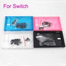 4 renk Yedek Faceplate Kılıf Nintendo Anahtarı NS Konsolu Sert Gövde Kabuk Ön Arka Faceplate Kapak düğmeler kiti