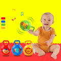 "4"" Colorful baby toys Baby Rattle Toys Soft handle ball Bells Plastic PVC Baby Toy High Quality Newbron Gift"