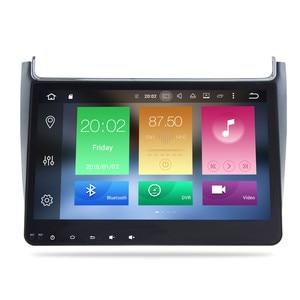 Image 1 - 4G RAM אנדרואיד 9.0 רכב רדיו מולטימדיה נגן עבור פולקסווגן פולו 2015 2017 GPS וידאו WIFI Bluetooth ניווט סטריאו אין DVD