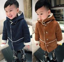 The boy winter wool and cashmere thickened 1-5 yr earlier little one vogue cashmere woolen coat jacket