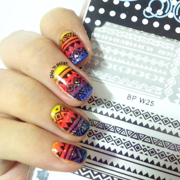 BORN PRETTY BP-W25 Nail Water Decals Aztec Transfer Stickers Nail Art Sticker 2 Patterns/Sheet #23744