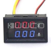 2in1 Digitale Tester DC 0 ~ 100 V/5A Ammeter Voltmeter DC Volt Ampere Meter DC 12 V 24 V Voltage Stroom Meter/Panel Meter