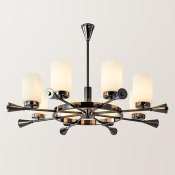 Oro chandelier iluminación moderna de pantalla E27 ...