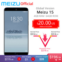 "Official Global Version Meizu 15 4GB 64GB Smartphone Snapdragon 660 Octa Core 5.46"" 1920x1080P Screen Fingerprint ID Fast charge(China)"