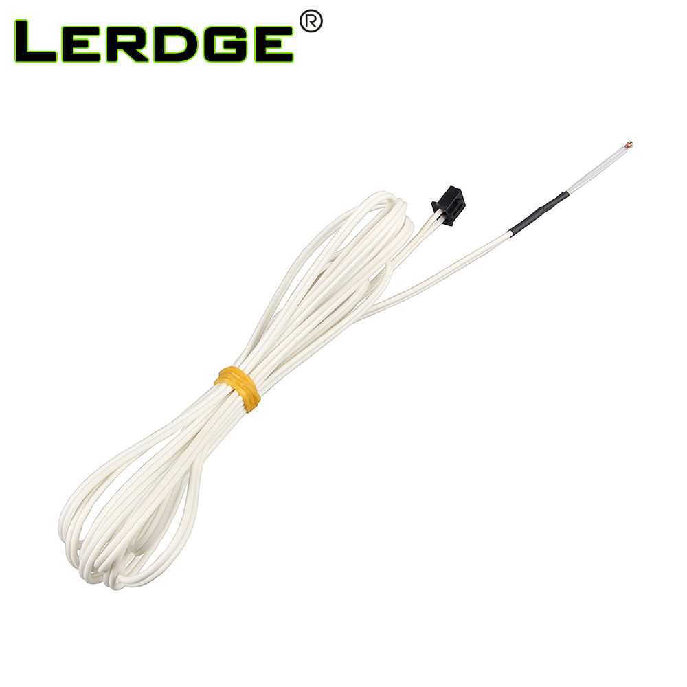 LERDGE NTC 100K B3950 Thermistors 3D Printer Parts Temperature Sensor For Hotend Heatbed Thermistor Wire With  Cable 1m/2M 1PCS
