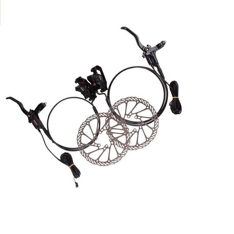 140mm 160mm une paire en alliage d'aluminium manette de vitesse de contrôle de puissance électrique vélo E vélo vtt frein hydraulique frein à disque ensemble