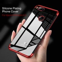 аккумулятор для телефона ibatt bn31 для xiaomi mi 5x mde6 5x Ikrsses For Xiaomi mi a1 5X Plating Soft TPU Cases Ultra Thin Transparent Shining Case For Xiaomi Mi a1 Mi 5X plating TPU Case