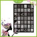 1 Unids Nuevo Diseño BQAN Figuras De Acero Inoxidable/Corazón/Flor de la Serie de Imágenes Nail Plate Estampación XY14
