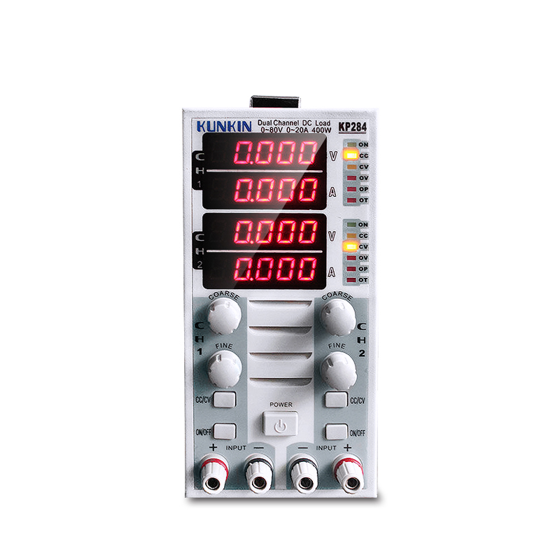 Battery Capacity Test LED Display Load Meter 220V Dual Channel DC Electronic Load Tester KP284 battery capacity testing electronic load nicd and nimh mobile power supply tester tec 06 lithium battery
