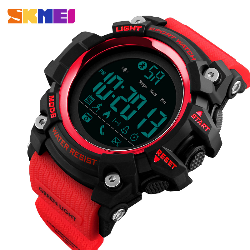 <font><b>SKMEI</b></font> Watch Men Sport Watches Pedometer Calorie Bluetooth Watches Call Reminder Waterproof Smart Digital Watch reloj hombre image