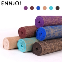 NEW 6 Colors 183*61cm 6mm Thickness Tasteless Non slip Linen Yoga Mat Lose Weight Body Building Exercise Pilates Pad