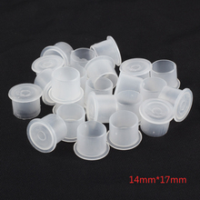 (White) 14x17mm Tattoo Caps 1000PCS Pigment Supplies Plastic Self-standing Ink Cups