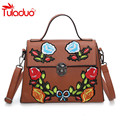 National Vintage Floral Embroidered Bag 2017 New Women Fashion Bags Famous Brand Women Shoulder Messenger Bags Ladies Bolsos Sac