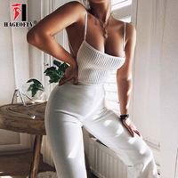 High Quality White Rayon Bandage Jumpsuits Sexy Backless Strap Club Fashion Runway Party Body Femme Women's Sexy Jumpsuits