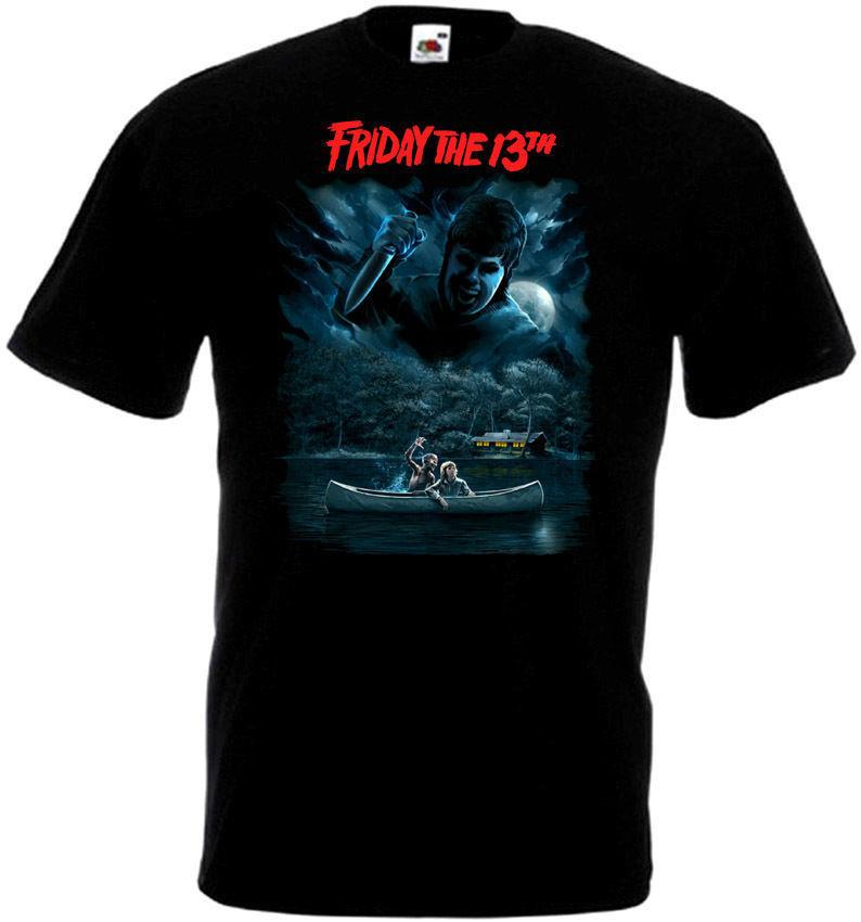 Cheap T Shirt Design O-Neck Men Short Sleeve Best Friend Friday The 13 V47 T-Shirt All Sizes Sizes S To 3XL Black Shirts