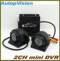 2Ch Veículo carro Gravador De Vídeo Do Carro/Ônibus mini Vídeo Do Carro DVR Móvel i/o alarme motion detectar no máximo até 128 gb sd card com câmera