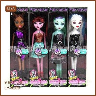 High Quality Plastic Cartoon Doll Fasion Monster Dolls Lifelike Draculaura/Clawdeen Wolf/Frankie Stein Moveable Toy Girls Gift