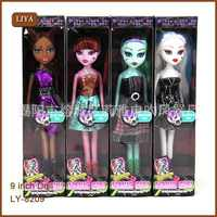 High Quality Plastic Cartoon Doll Fasion Monster Dolls Lifelike Draculaura/Clawdeen Wolf/Frankie Stein Moveable Toy Girls Gift
