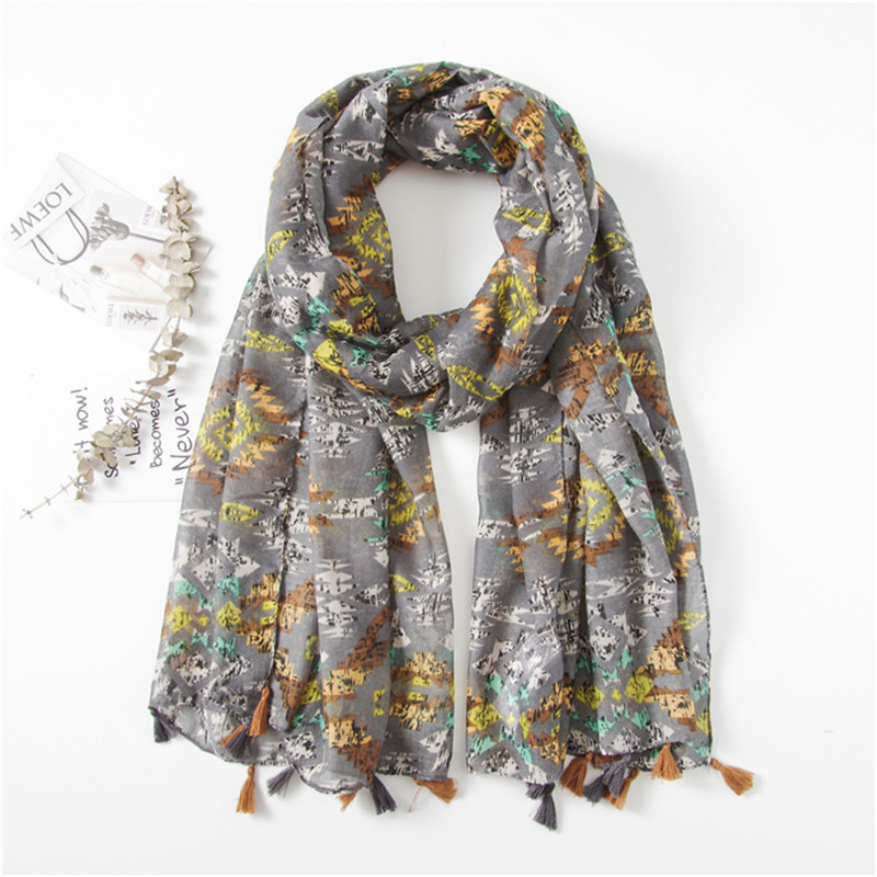 2018 Women's Fashion Viscose Scarf Echarpe Floral Printed Scarves Ladies Stoles Warm Shawls Hijab and <font><b>Bufandas</b></font> Sjaal <font><b>180*90Cm</b></font> image