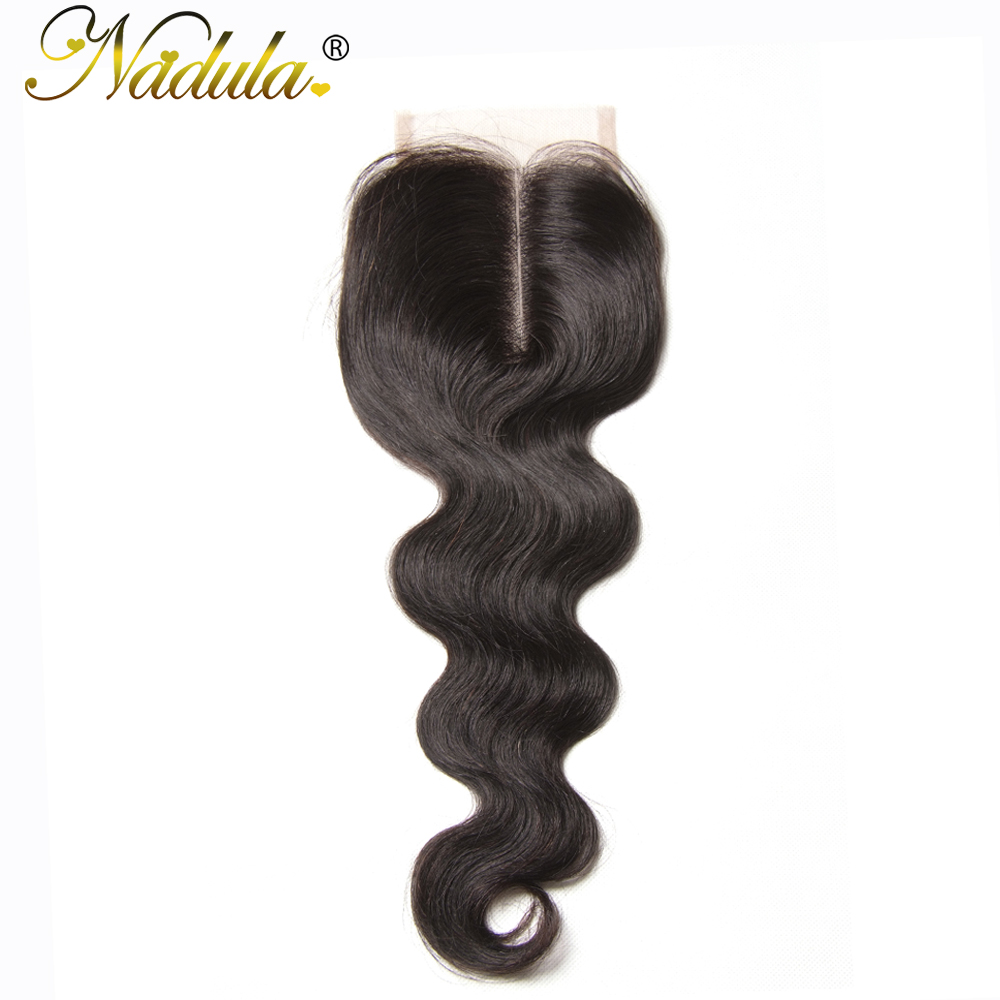 Nadula Hair Peruvian Closure Body Wave Hair 10 20inch Middle Part Non Remy Hair Swiss Lace