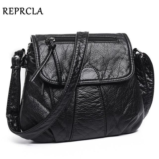 REPRCLA Brand Designer Women Messenger Bags Crossbody Soft PU Leather Shoulder Bag High Quality Fashion Women Bags Handbags 1