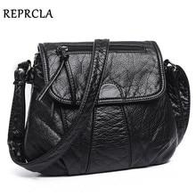 REPRCLA Brand Designer Women Messenger Bags Crossbody Soft PU Leather Shoulder Bag High Quality Fashion Women Bags Handbags