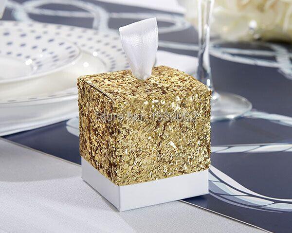 """100 pcs/lot Beliebte """"Sparkle und Glanz"""" Gold Glitter Favor Papier Box für Verkauf-in Geschenktüten & Verpackungs-Zubehör aus Heim und Garten bei  Gruppe 1"""