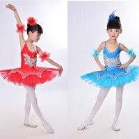Girls Gymnastic Leotard Ballet Dancing Dress White Swan Lake Costume Ballerina Dress Kids Ballet Dress Children