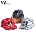 2016 Summer New Kids Baseball Caps Cartoon Dot Mickey Snapback Hat Boys Girls Outdoor Sunhats Gorras Bone YY60125