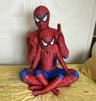 NEW Spiderman Costume Spider Man Cosplay Clothing Children Kids Adult Spider Man Clothing Halloween Costumes Red