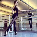 Aptidão mulheres Jumpsuit Romper magro backless abrir voltar oco out bodysuit geral playsuit roupas de ginástica preto 364