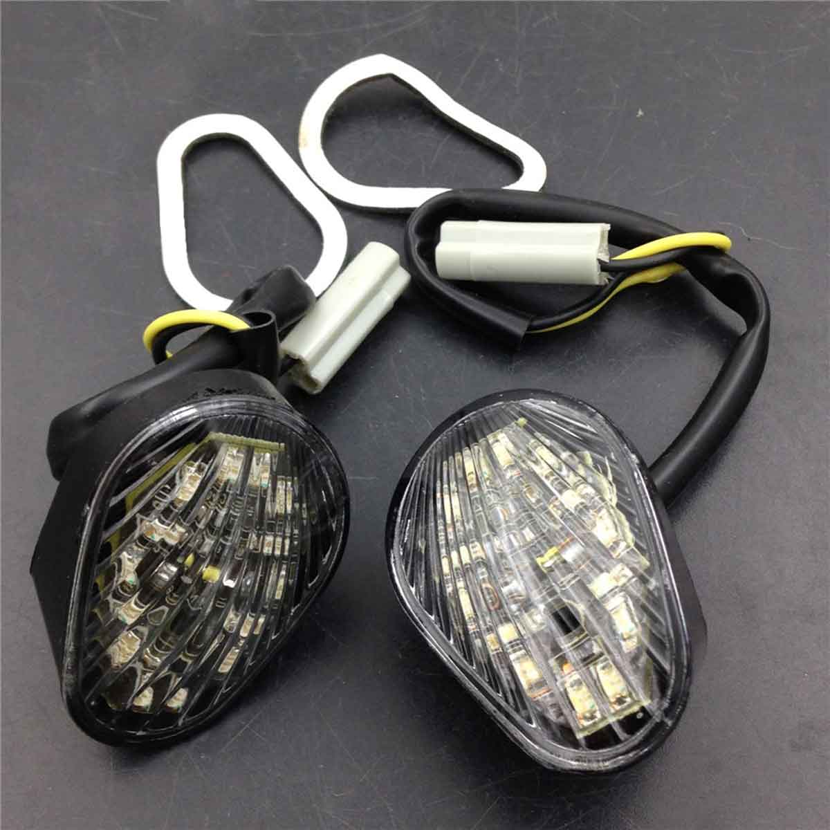 For 2003-2005 04 Yamaha YZF-R6 / YZF-R6S 2006-2007 / YZF-R1 2002-2014 Motorcycle LED Flush Mount Turn Signal Light Bike Smoke
