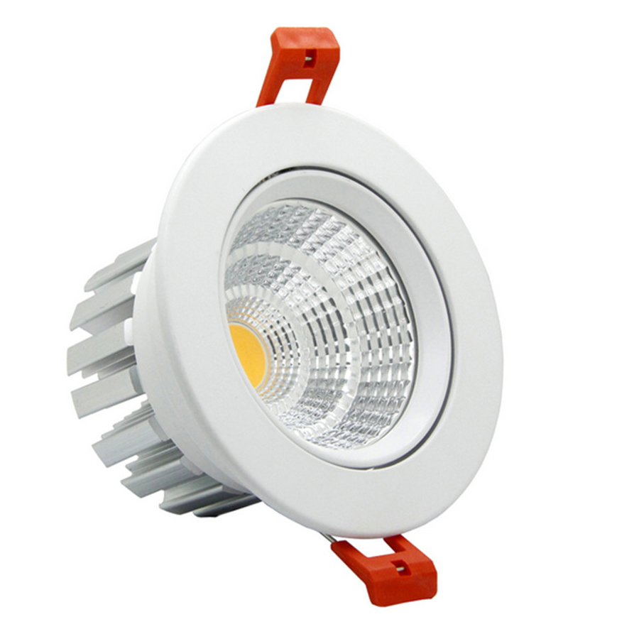 [DBF] Super Bright Epistar LED COB Recessed Downlight Dimmable 6W 9W 12W 20W LED Spot Light Ceiling Lamp Home Lighting 110V 220V цена 2017