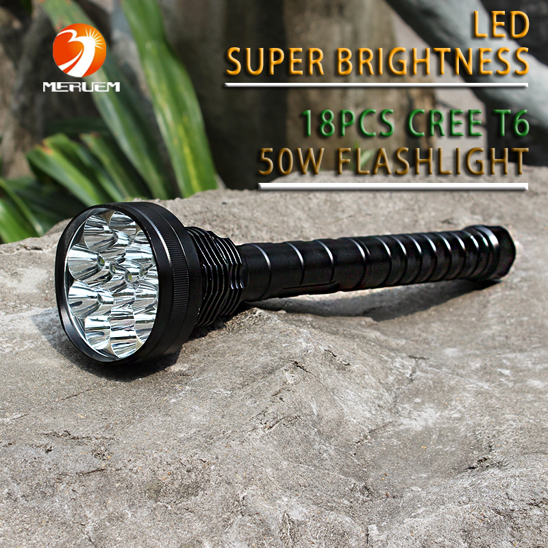 NEW Hunting Outdoor exploration 6000 LM 18x CREE XML T6 5Modes LED Flashlight For 18650 Battery High Quality Torch Lamp