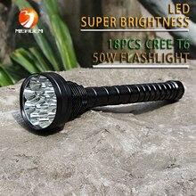 Новый охота открытый разведка 6000 лм 18x cree-xml T6 5 режима из светодиодов фонарь для аккумулятор 18650 высокое качество факел лампы