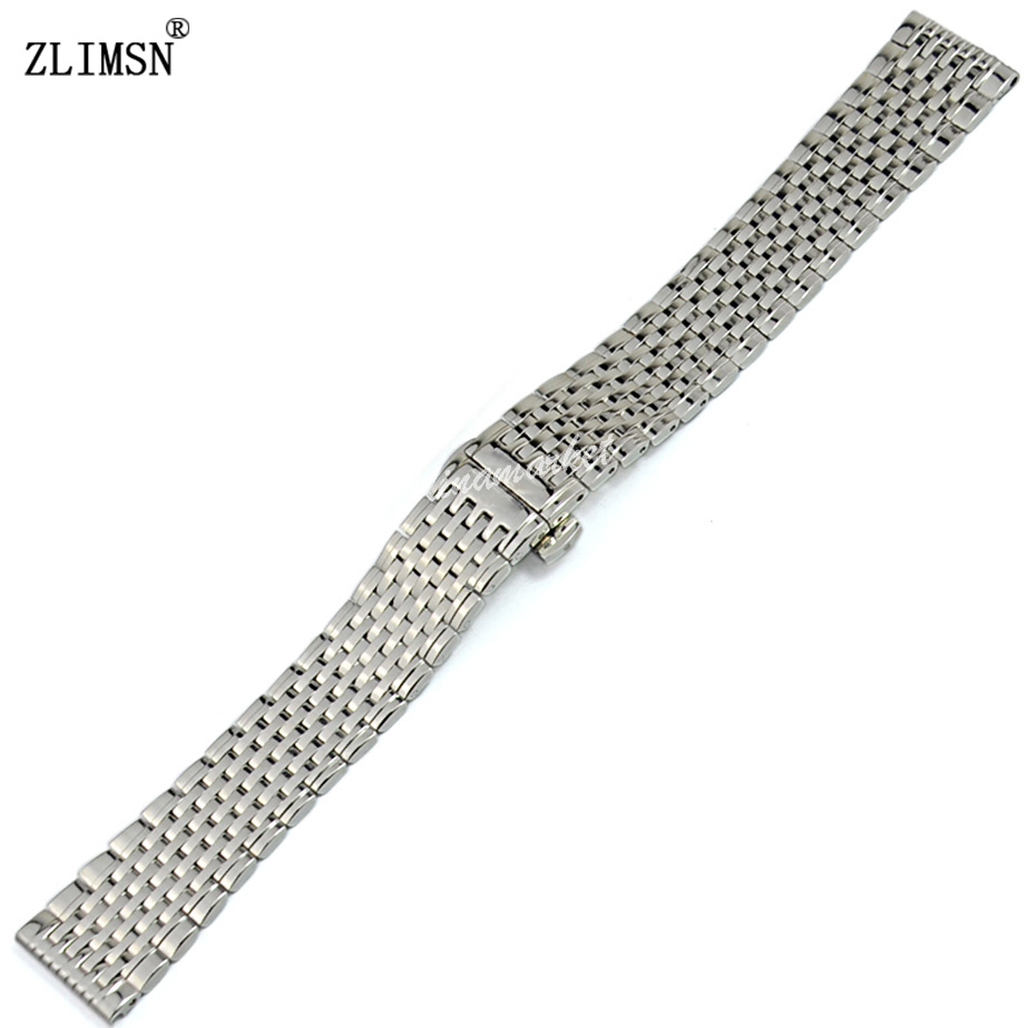 ZLIMSN 13mm 18mm 20mm Stainless Steel Watch Band Bracelets Relojes Hombre 2016 Watchband