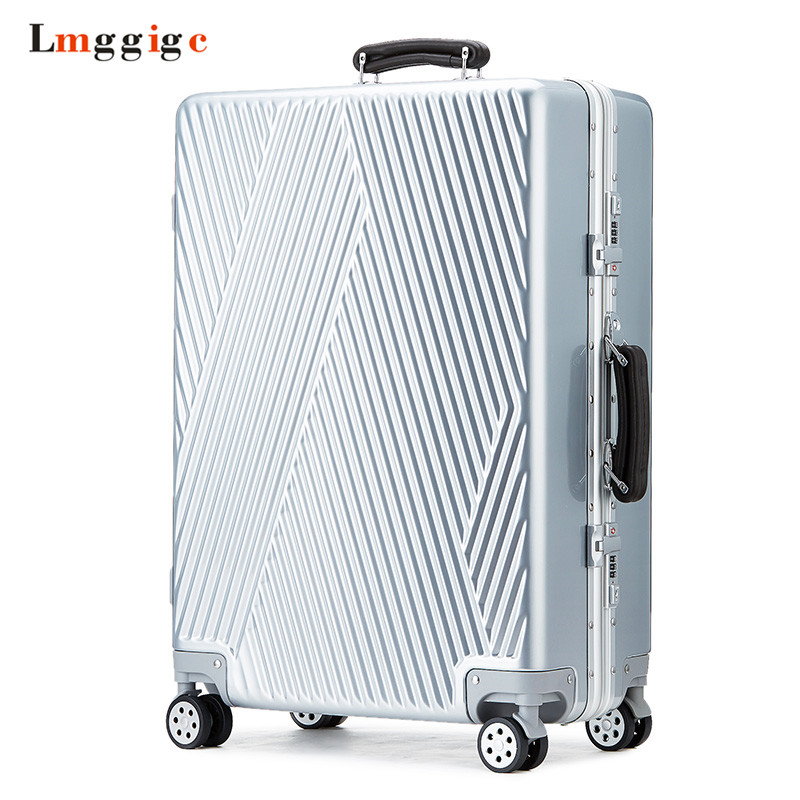 2024 inch Aluminum frame+PC Luggage Bag,Multiwheel Suitcase,Nniversal wheel Travel box Carry-On,Rolling Trolley Carrier Case