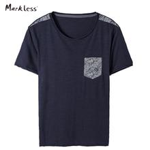 Markenlose Sommer männer Casual T-shirts kurzhülse T-shirt Männer Mode Oansatz Normallack Patchwork Tasche Tops TXA5624M