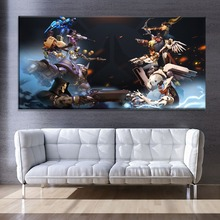 Overwatch Hero Duel Painting Modern On Canvas Printing Type 1 Piece Wall Art Home Decorative Living Room Or Bedroom Game Picture